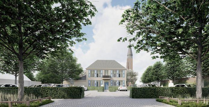 Zo moet het Dorpsplein van Waardamme er tegen de zomer van 2022 uitzien.