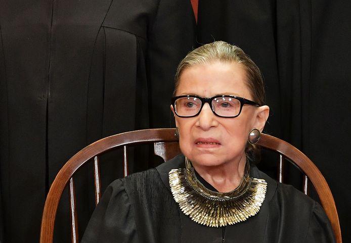 Opperrechter Ruth Bader Ginsburg op archiefbeeld uit 2018.