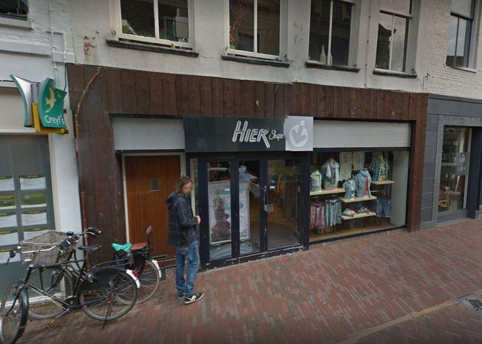 De winkel van Hier Mode in Harderwijk