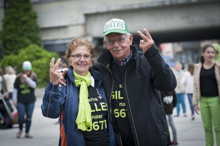 De grootouders van Gilles zijn zijn grootste fans.