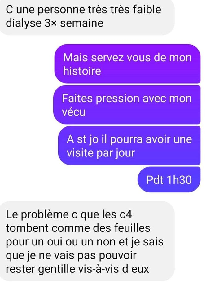 Message d'une infirmière du CHU de Charleroi