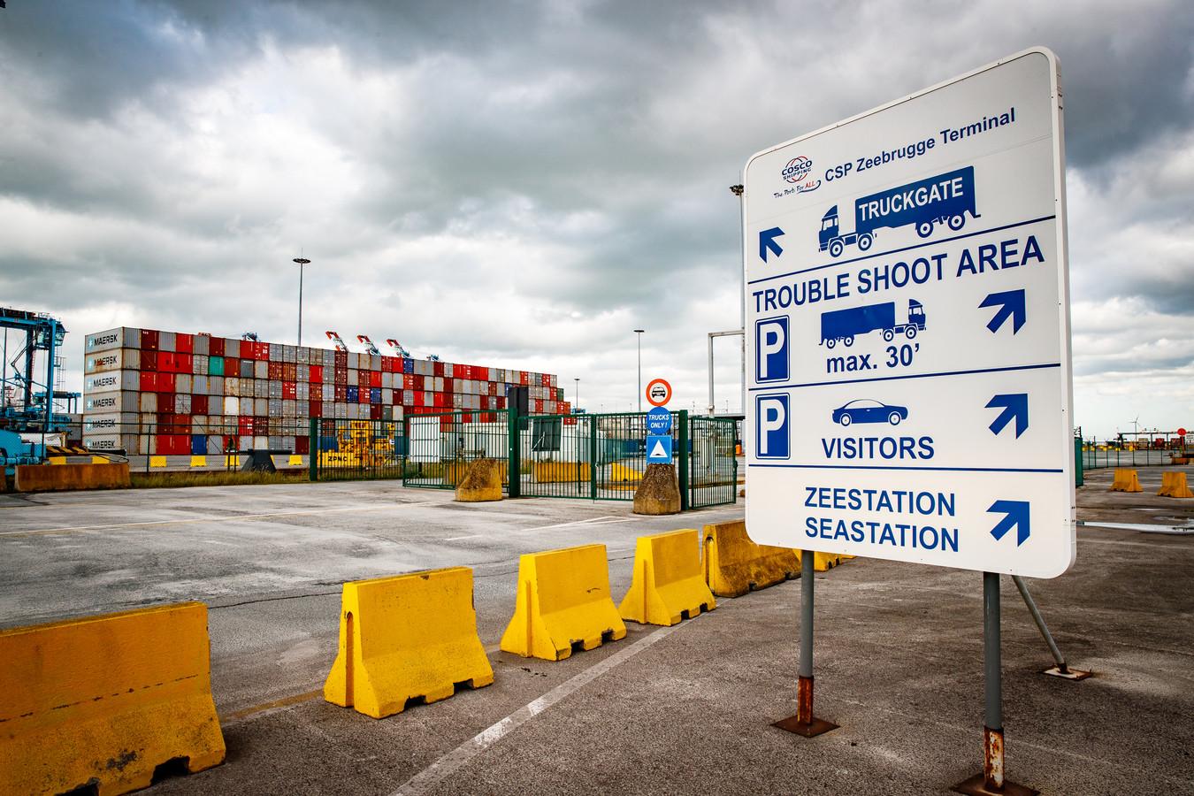 Het koppel werd geklist in de haven van Zeebrugge.