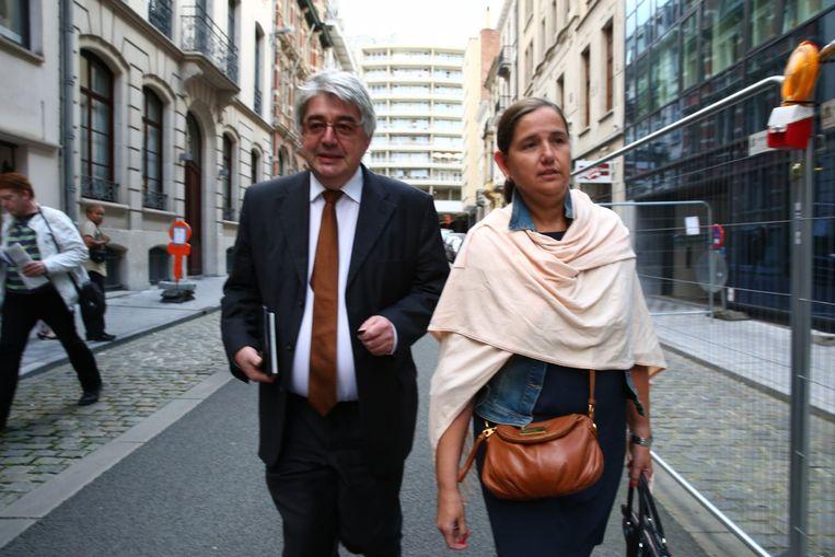 Hendrik Vuye en Veerle Wouters.  Beeld Photo News