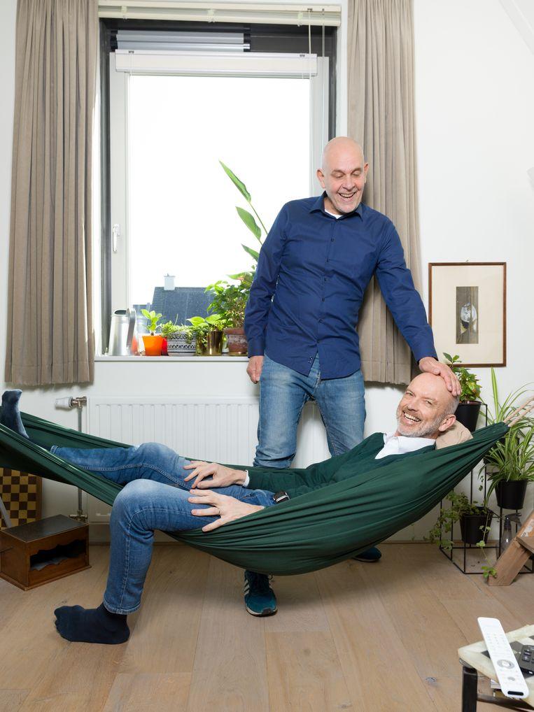 Gert Kasteel (L) en Dolf Pasker. Beeld Ivo van der Bent