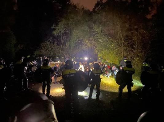 De mobiele eenheid van de politie moest er aan te pas komen om een einde te maken aan een feest in Limburg.