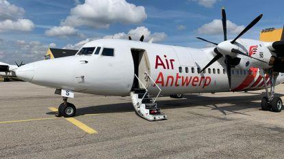 Air Antwerp ontvangt zijn eerste (rood-witte) vliegtuig