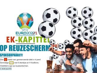 Op verschillende plaatsen groot scherm voor EK Voetbal