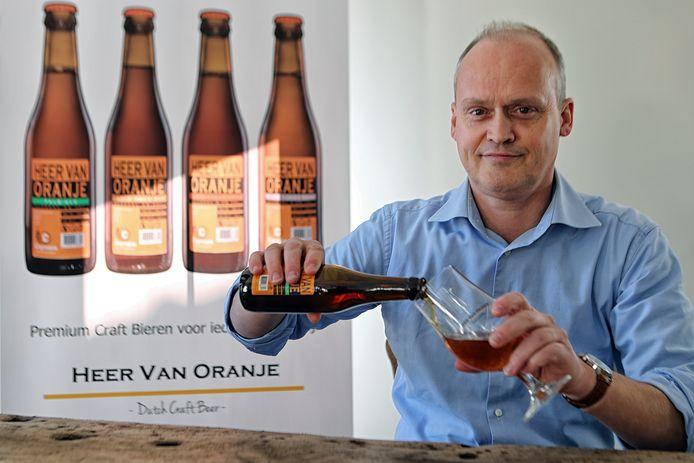 Kees-Jan Kooijmans wil zijn bier introduceren als Brabantse Wal bier. Foto: Chris van Klinken / Pix4Profs