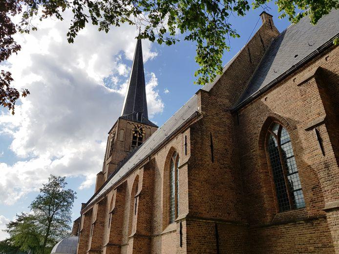 De klok van de Laurentiuskerk in Mijnsheerenland.