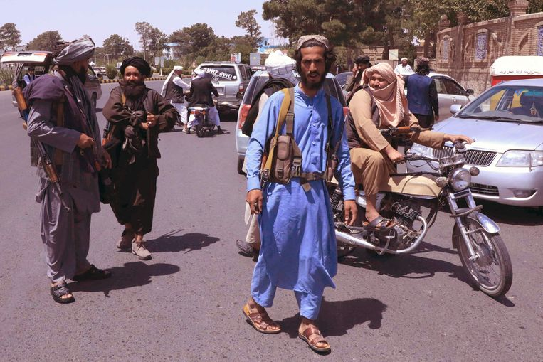 Talibanstrijders.  Beeld AFP