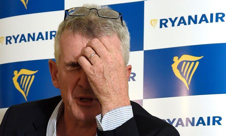 Vakbonden zijn een doorn in het oog van Ryanair-CEO Michael O'Leary. Beeld Photo News