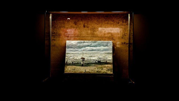 Het schilderij Zeegezicht bij Scheveningen dook vorig jaar na de diefstal na veertien jaar weer op in Italië. Beeld anp