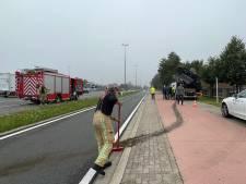 Remmen van vrachtwagen vatten vuur op Expresweg