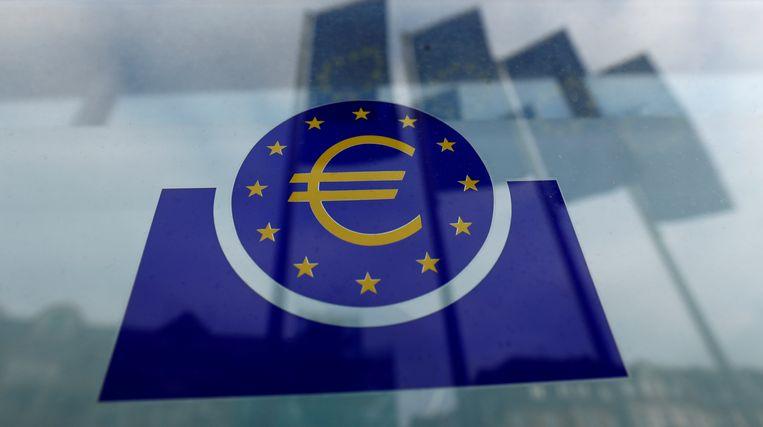 Het logo van de Europese Centrale Bank.  Beeld Reuters