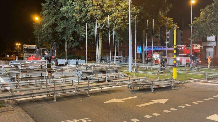 De voetgangersbrug moet omwonenden en bezoekers toelaten het parcours van het WK tijdrijden te kruisen.