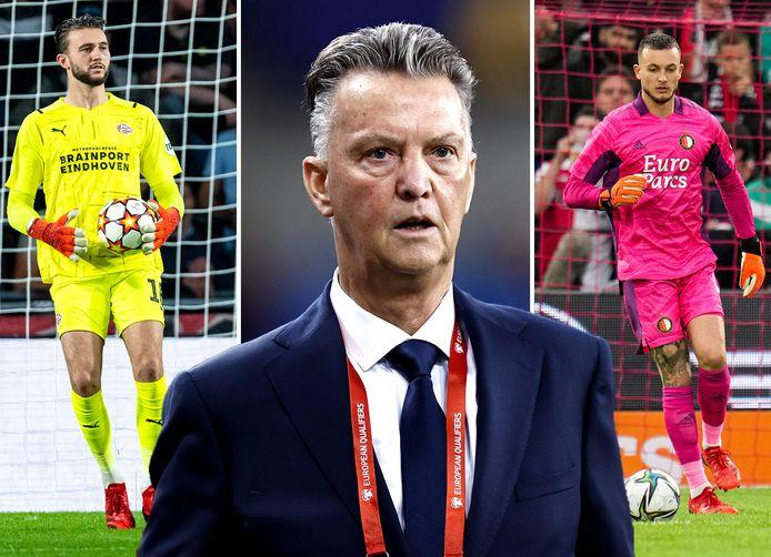 Joël Drommel en Justin Bijlow weten dat Louis van Gaal ook neer hen kijkt bij PSV-Feyenoord.