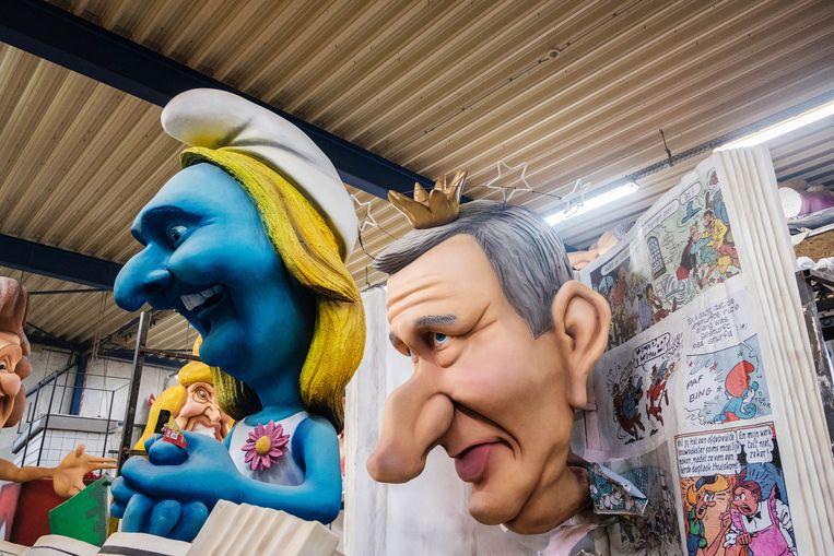 In Aalst wordt naarstig verder gewerkt aan de voorbereidingen van carnaval. Beeld Wouter Van Vooren