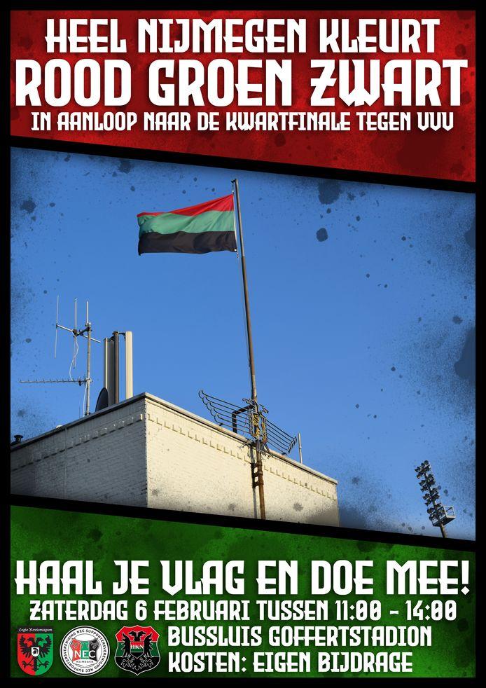 Nijmegen kleurt rood, groen en zwart.