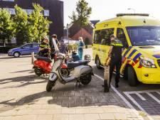Scooterrijder knalt op andere scooter na uitwijkmanoeuvre in Eindhoven