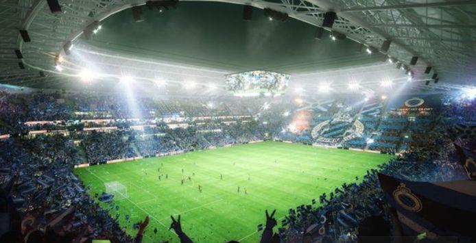 Dit moet het nieuwe stadion van Club Brugge worden.