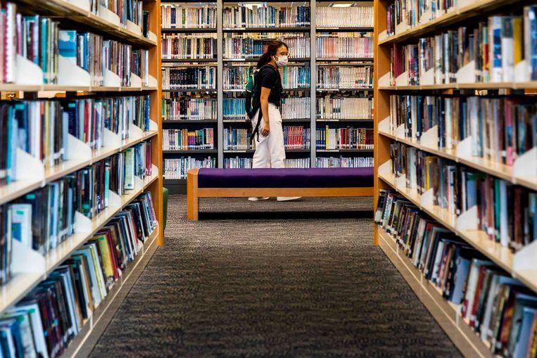 Een bibliotheek in Hongkong.