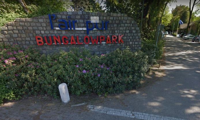 De entree van bingalowpark L'Air Pur in Baarle-Nassau.