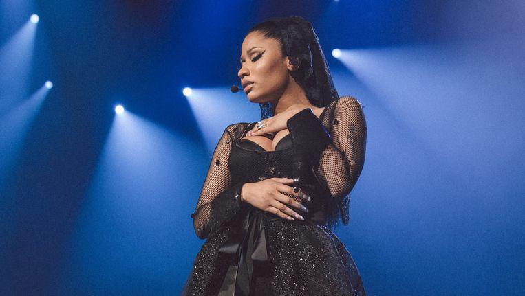 Nicki Minaj trekt een wonderlijke mix van Bijlmerjeugd en al even jonge homo's. Beeld /