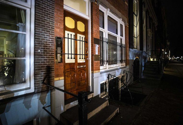 De deur van het partijkantoor van Forum voor Democratie (FVD).  Beeld Remko de Waal, ANP
