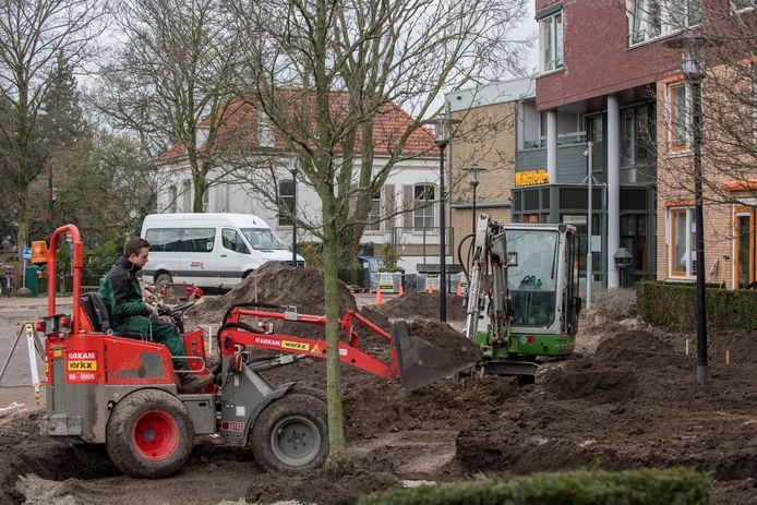 De werkzaamheden bij Walstede in Tiel.