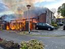 Brand in een schuur in Helmond