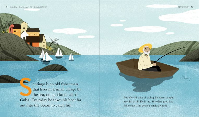 'The Old Man and the Sea'. Beeld Kinderguides