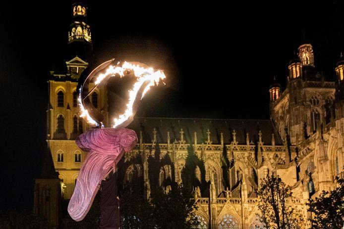 Bevrijdingsvuur in Den Bosch.
