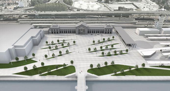 L'esplanade de la gare de Charleroi-Sud sera plus verte