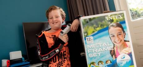 Luca (10) uit Apeldoorn bedenkt ludieke ruilactie: van een bak zand op weg naar een Playstation 5