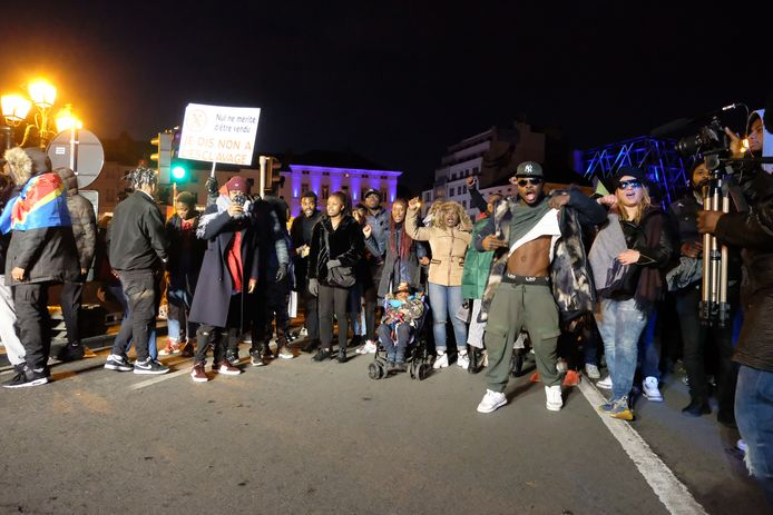 Manifestanten betoogden tegen slavernij in Libië.