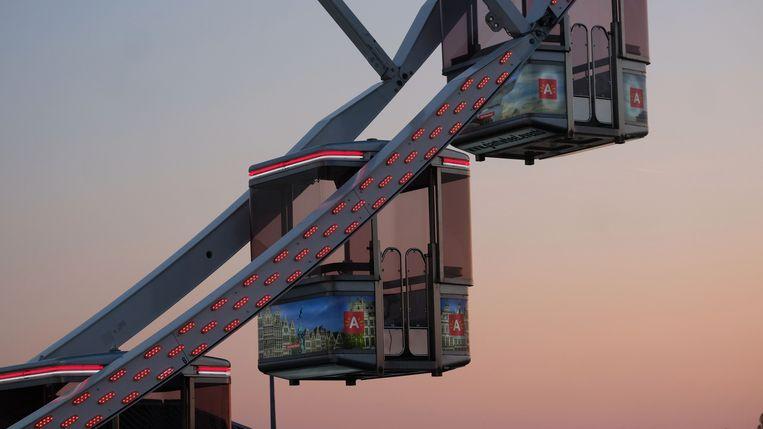 Elke cabine toont de mooiste plekken van Antwerpen.
