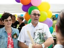 Jan Veurink 'gieter vandeur' en dus is er feest bij de Doekesschool