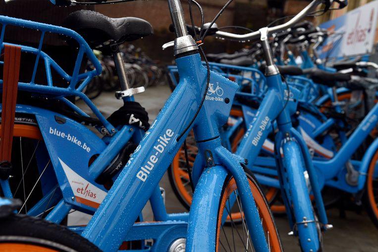 Een archiefbeeld van Blue Bikes