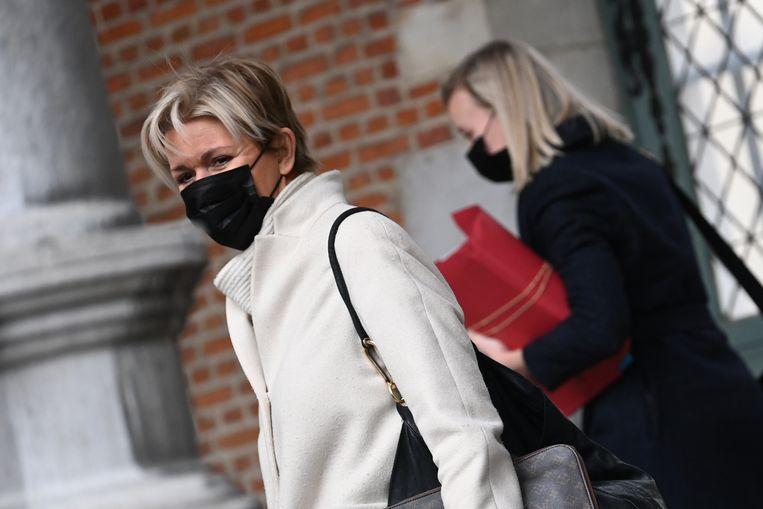 Advocate Christine Mussche vertegenwoordigt negen vrouwen die De Pauw beschuldigen. Beeld BELGA