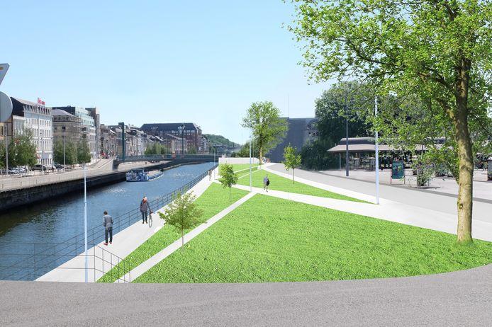 Un parc linéaire est prévu sur les quais de la Sambre à Charleroi