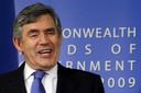 De Britse premier Gordon Brown.