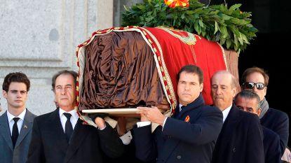 Dictator Franco opnieuw ten grave gedragen