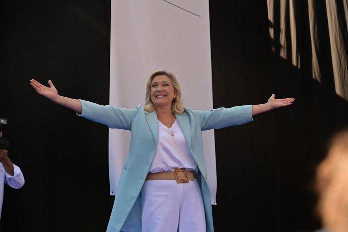 Marine Le Pen à Fréjus, le 12 septembre 2021.