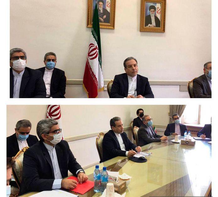 Iraanse diplomaten hebben een videovergadering met vertegenwoordigers van de EU, China, Frankrijk, Rusland, Duitsland en Groot-Brittannië.