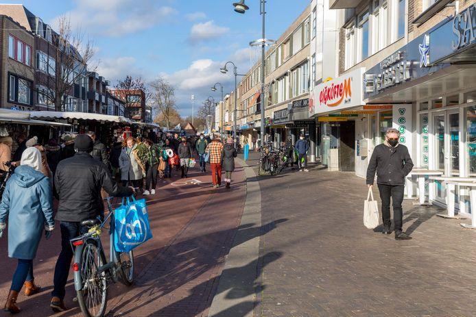 De Kruisstraat op zaterdag