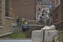 Hoogwerker omgevallen in Breda.