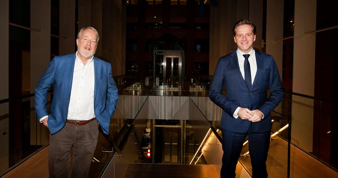 RIVM-directeur Jaap van Dissel en demissionair coronaminister Hugo de Jonge (CDA).
