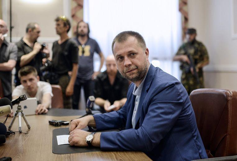 De zelfverklaarde premier van de 'Volksrepubliek Donetsk' Alexander Borodai. Beeld AFP