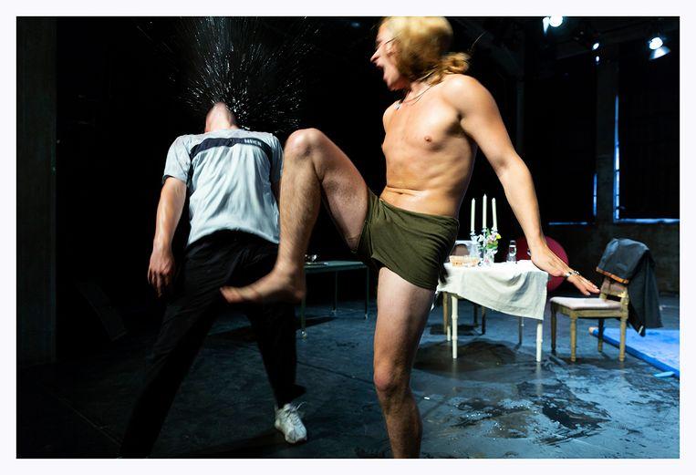 Tarik Moree en Tim Olivier Somer in Het debuut: My dinner with? Beeld RV - Paul Rondags