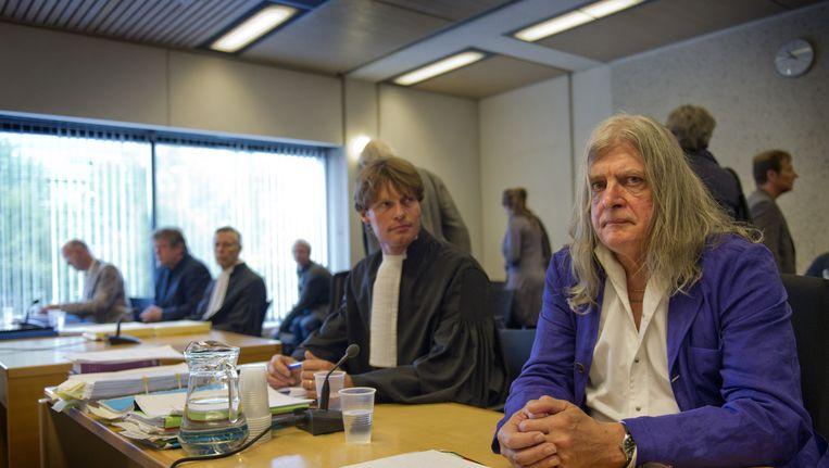 Joop Schafthuizen met zjin advocaat mr. Olaf Trojan. Beeld ANP